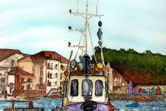 Teignmouth Tug Boat by Kathryn Loram