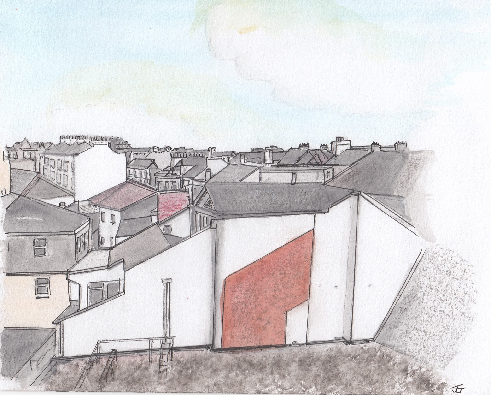Rooftops-by-Jennifer-Jenkins-watercolour-and-graphite-1022-x-722